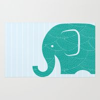 Fun At The Zoo: Elephant Rug