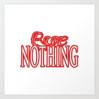 Rue Nothing Red Logo Art Print