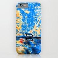 Blue rusty door iPhone 6 Slim Case