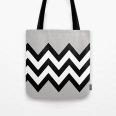 GRAY COLORBLOCK CHEVRON Tote Bag