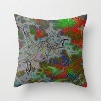 Green Nebula Throw Pillow
