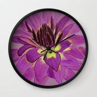 flower close up Wall Clock