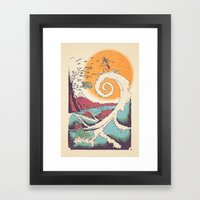 Surf Before Christmas Framed Art Print