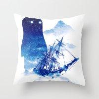 Abandon Ship Throw Pillow