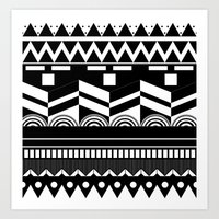 Graphic_Black&white #2 Art Print