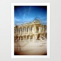 Jardin des Plantes Multiple Exposure Art Print