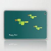 Happy Bird-Green Laptop & iPad Skin