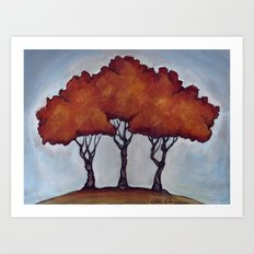 Fall Crepe Myrtles Art Print