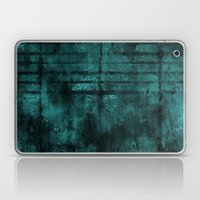 Turquoise Lined Rusted M… Laptop & iPad Skin