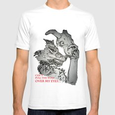 Pullin the Wolf Over My Eyes Mens Fitted Tee White SMALL