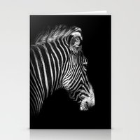 White Stripes Black Stripes Stationery Cards