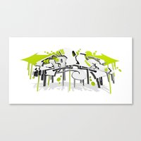 3D GRAFFITI - SWEED Canvas Print