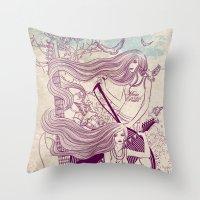 Music, Love, Peace Throw Pillow