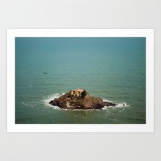 Monastery, on the Rocks Art Print