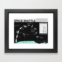 Space Shuttle Mission Di… Framed Art Print