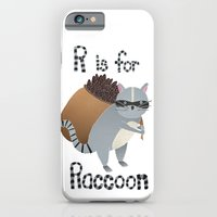 R Is For Raccoon iPhone 6 Slim Case