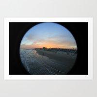 Pleasure Pier Sunset Art Print