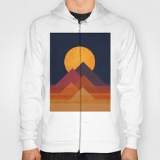 Full moon and pyramid Hoody