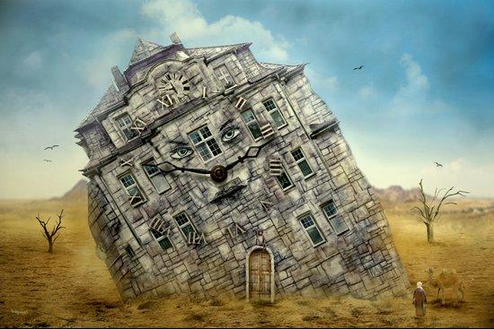 Die Villa in der Wüste ! Art Print