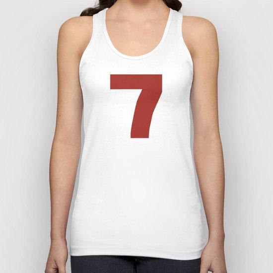 Number 7 Unisex Tank Top