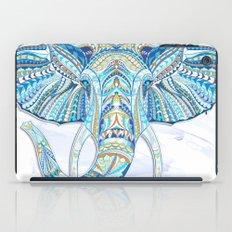Blue Ethnic Elephant iPad Case