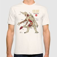 Kaiju Anatomy Mens Fitted Tee Natural SMALL