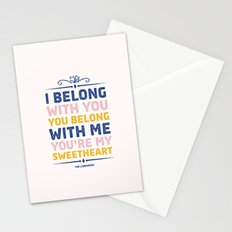 I Belong With You Stationery Cards