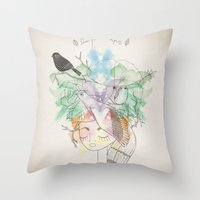 Au Printemps Throw Pillow