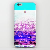 Sailboat And Swimmer (2d… iPhone & iPod Skin