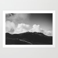Lone Sheep on a Hill Art Print