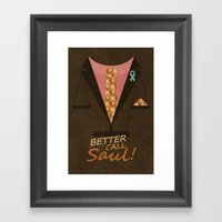 Better Call Saul Framed Art Print