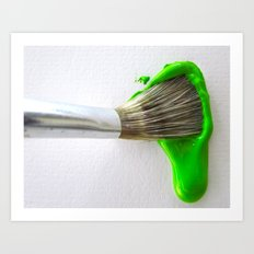 Drip Green Paint Art Print