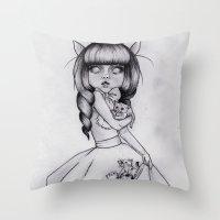 Princess Felis Throw Pillow
