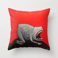Empty Shell Throw Pillow