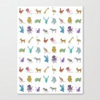 Glitter Animals C Canvas Print