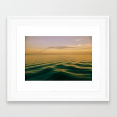 On Green Waters Is Where I Lie Framed Art Print
