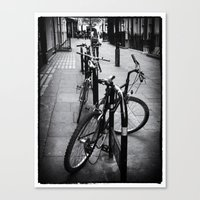 Bikes in London Canvas Print