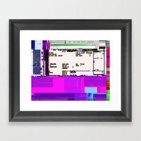 Office Life Glitch Framed Art Print