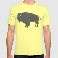 Buffalo Silhouette Mens Fitted Tee Lemon SMALL