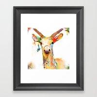 Deer (H)art Framed Art Print