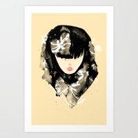 Bangs Girl Art Print