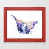 Big Bang in watercolor Framed Art Print