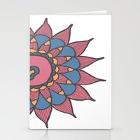 Abstract Sunflower Stationery Cards