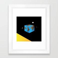 Land Grid Framed Art Print