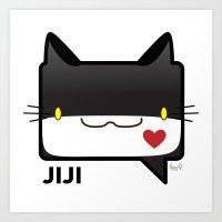 Convo Cats! Jiji Art Print