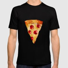 Pizza Mens Fitted Tee Black SMALL