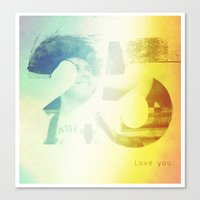 25 Canvas Print
