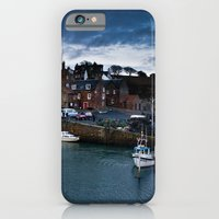 iPhone & iPod Case featuring Fishing Harbor by Loesj