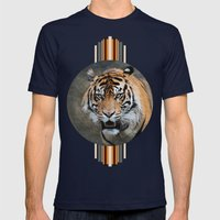 Bengal Tiger Mens Fitted Tee Navy SMALL