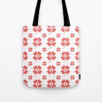 lucky flower coral Tote Bag